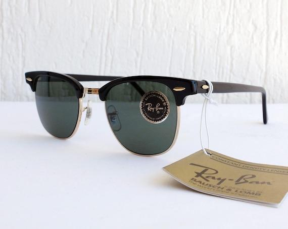Vintage NOS B&L RAY-BAN Clubmaster W0365 G-15 49mm Sunglasses