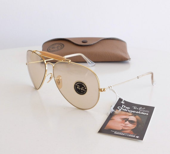 Vintage NOS B&L RAY-BAN Outdoorsman Changeable Brown 62mm Sunglasses