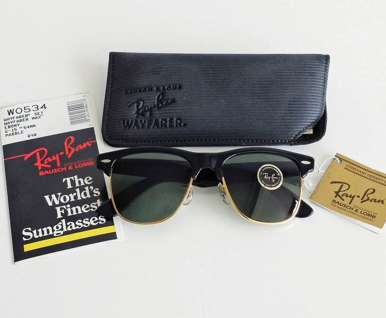 9821c307fd Vintage B L RAY-BAN Wayfarer Max W0534 54mm Sunglasses USA