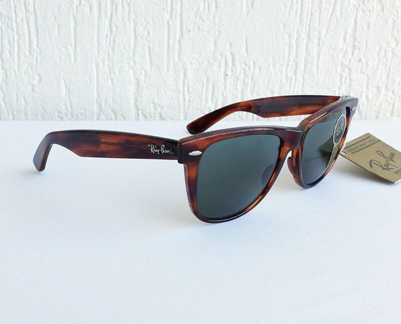 baea025239 Vintage B L RAY-BAN Wayfarer II L1725 G-15 Tortoise 54mm Sunglasses