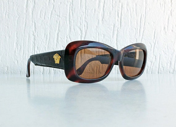 Vintage GIANNI VERSACE Mod 417/P COL 900 Medusa Sunglasses