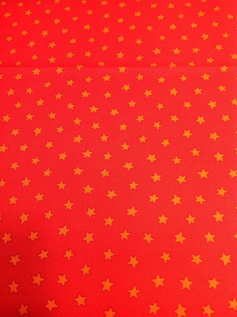 Pete the Cat by James Dean with Merrymakers Orange Star Fabric by the Yard