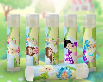 Fairy Party Favors  Fairy Birthday Party,Fairytale Party, Fairy Garden Party  Lip Balm Party Favors-Fairy Theme,Set of 6 Add your message