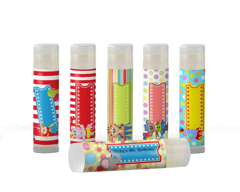 Big Top Party  Add  Message Set of 6 Carnival Party Circus Birthday Party Favor  Circus Party Favor  Kids Circus Party Circus Theme Party