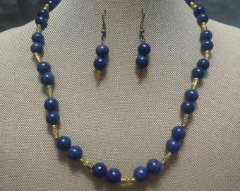 Blue Glass Two Piece Set