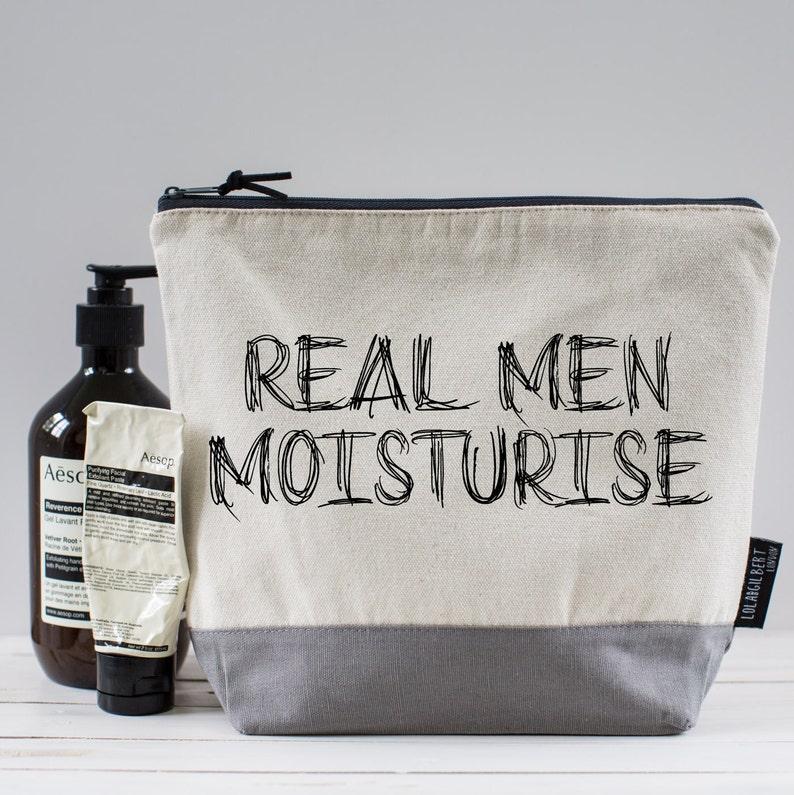 Real Men Moisturise... Washbag  defffadf1d8fa