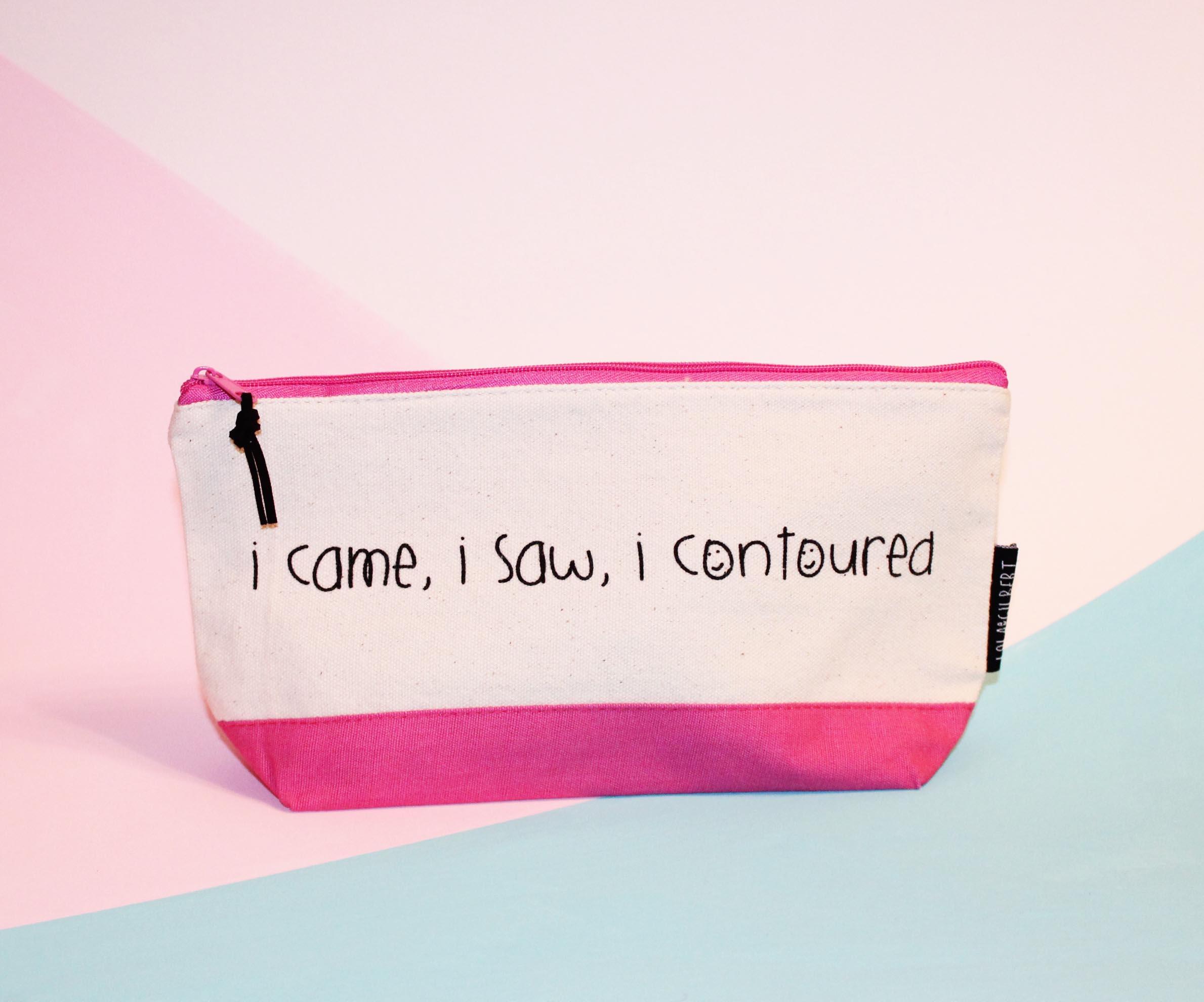 I Came I Saw I Contoured Brush Bag   Make up Bag  f347e78eb5ef0