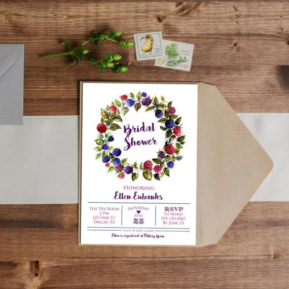 ef187294133e Watercolor Berry Invitation Birthday Wedding Baby Shower