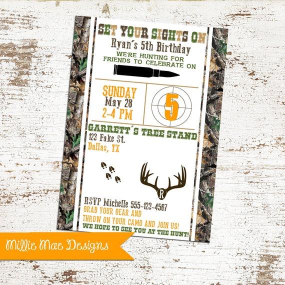 Hirsch Jagd Geburtstagseinladung Einladung Jagd Geburtstag Etsy