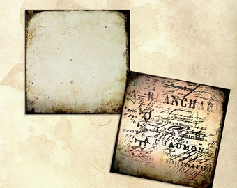 Grunge backgrounds art journaling cards 4x4 digital download pre made printable