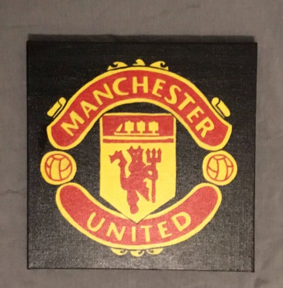 Manchester United Team Logo Painting Etsy