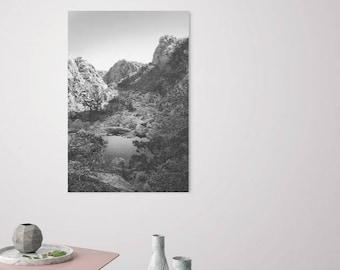 Photo Gift Home Decor, Home Gift, Fine Art Black White Photographic Print, Oklahoma, Mountains Wildlife, New Home