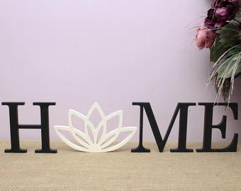 Namaste Wood Sign Lotus Flower Diwali Decor Yoga Wood Sign Etsy