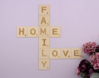 scrabble buchstaben etsy. Black Bedroom Furniture Sets. Home Design Ideas