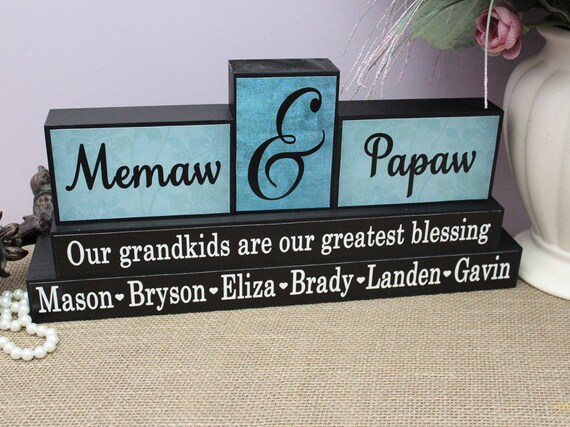 Memaw Pepaw Personalized Gift Grandparents Christmas Gift | Etsy