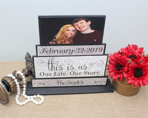 This Is Us Wood Sign Our Life Our Story Wedding Gift Etsy