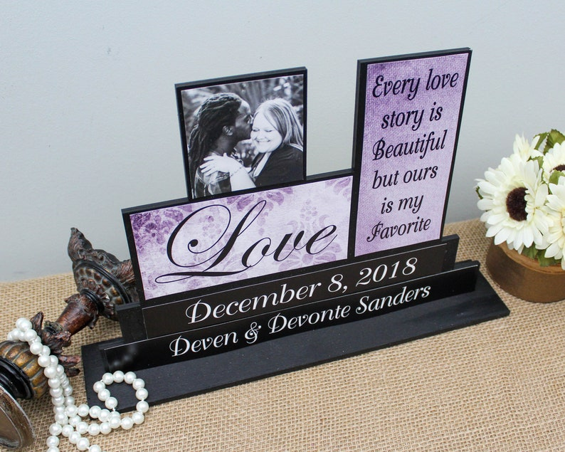 Love Story Sign Handmade Wedding Gift Every Love Story Is Etsy