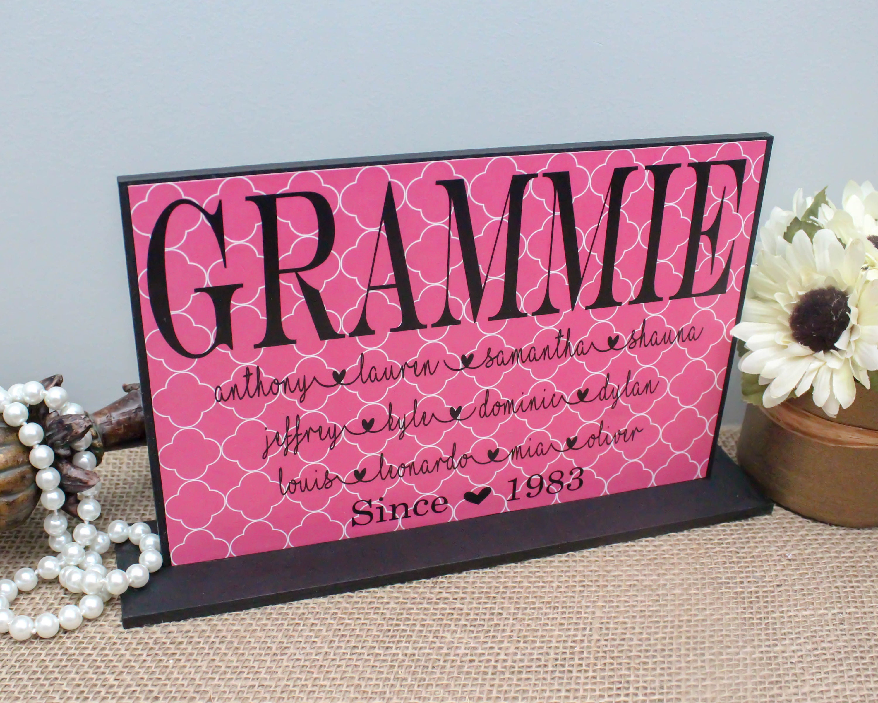 Personalized Mother S Day Gift Mamaw Gifts Grandma Sign Etsy