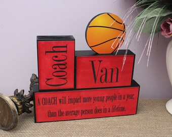 Basketball Coach Gift, End Of Season Coach Gift, Baseball Coach Gift, Sports Team Thank You Gift, Personalized Coach Gift, Coach Wood Sign