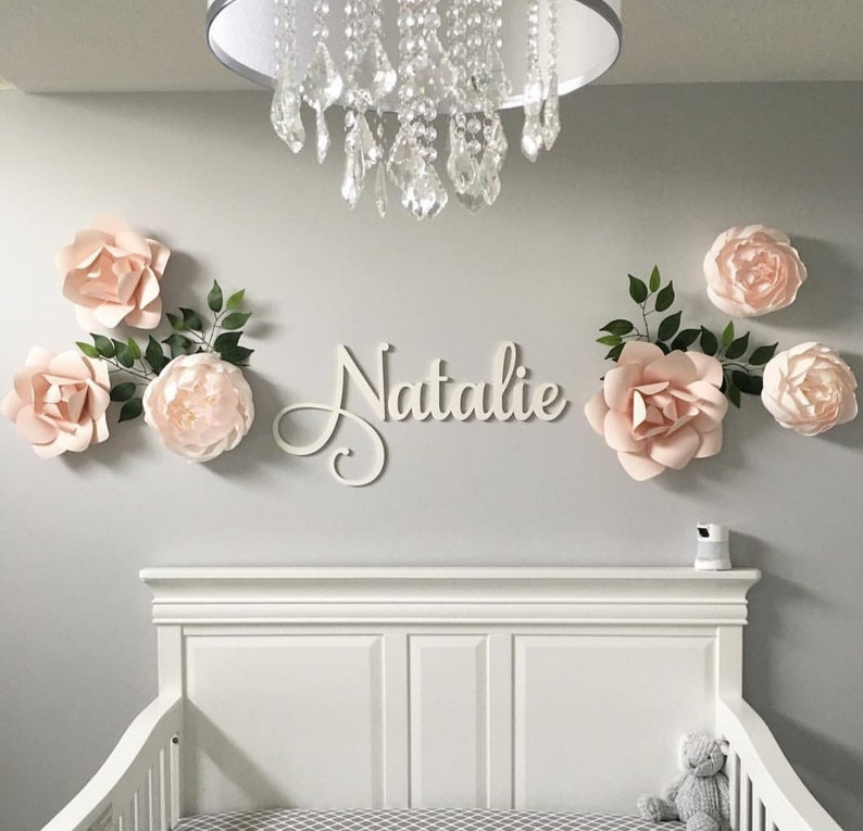 Baby Nursery Name Sign Decor Large Wooden Letters Wooden Name Signs Nursery Letters Custom Name Cut Out Choose Your Size
