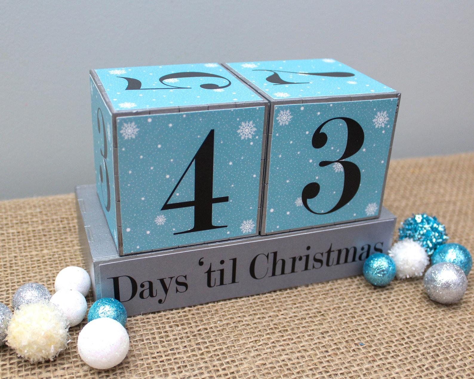 Christmas Countdown Blocks Page Four