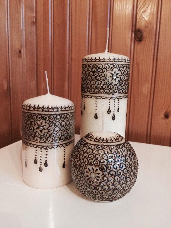 Handmade Henna Candles Etsy