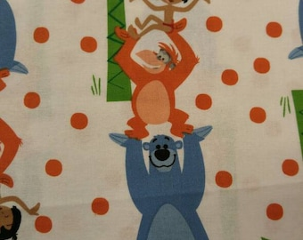 Disney Jungle Book Classic Vintage Quilting Fabric BTY