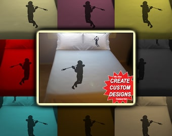 Sport Lacrosse Bedding Duvet Cover Queen King Twin Size, Queen Bedding, King Bedding Twin, Kids Queen Duvet Cover, Linen Cotton Sheet Set