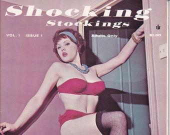 0d0c242cc Shocking Stockings vintage pinup magazine - nylons fetish Bettie Page  garter girls