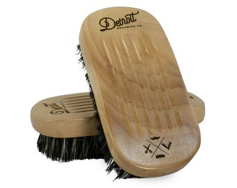 Firm Military Boar Bristle Brush - Detroit Grooming Company