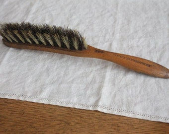 Vintage Natural Bristle Brush ~ 'British Manufacture' Wooden Handle ~ Collectable Rustic Cottage Farmhouse Decor