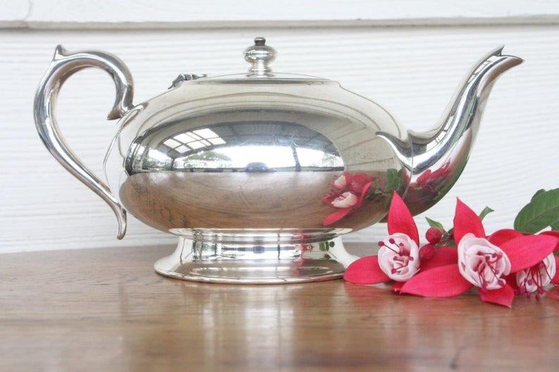 teapots,high tea Tea elegance charm on s//steel or silver plate