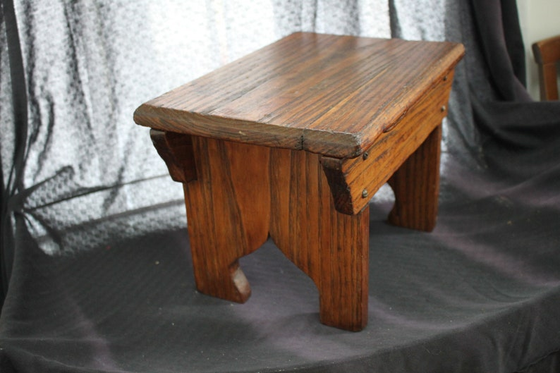 Incredible Vintage Wooden Stool Bench Seat Display Rectangular Onthecornerstone Fun Painted Chair Ideas Images Onthecornerstoneorg
