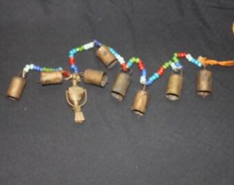 Brass Bells India, Bells of Sarna, Chimes, Beaded