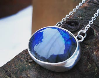 Beautiful double sided Labrodite pendant