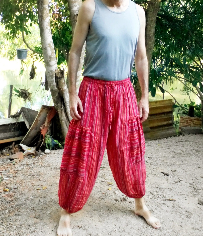 Mens Pants Trousers Balloon Pants Beach Pants Yoga Gym.
