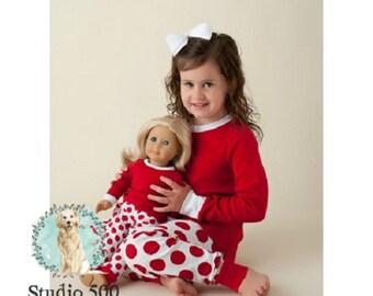 65bb9d45d5 SALE! Red White Polka Dot Kids Pajamas Winter Pajamas Sibling PJ s Matching  PJ s