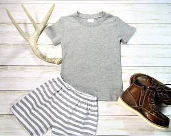 4c5c08df Grey SS Knit Tee/Spring Tee/Summer Tee/Personalized Tee