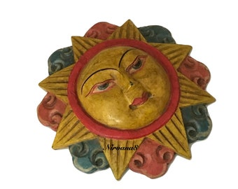 Antique Sun God Mask