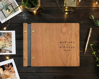 Wedding Guest Book, Wood Guest Book, Guest Book, Photobooth Guestbook, Wooden Guest Book, Personalized Photo Album, Wedding Album
