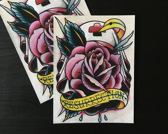 Resurrection Tattoo Art Print