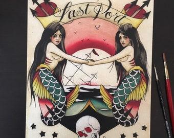 Last Port Tattoo Art Print
