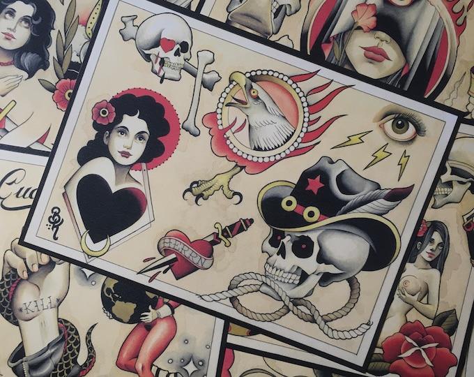 Tattoo Flashset 49 by Brian Kelly. 6 sheets.