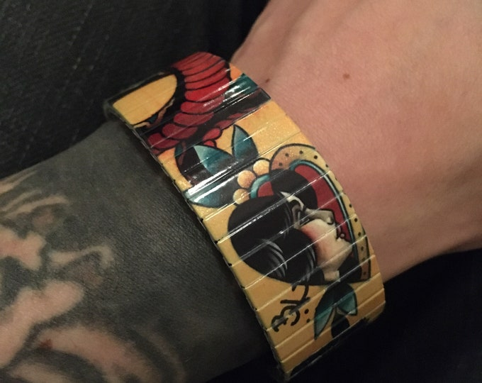 Banded Berlin 23mm Brian Kelly Tattoo Flash Bracelet No. 2