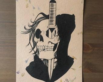 Death and a Dagger by Brian Kelly. Original artwork.