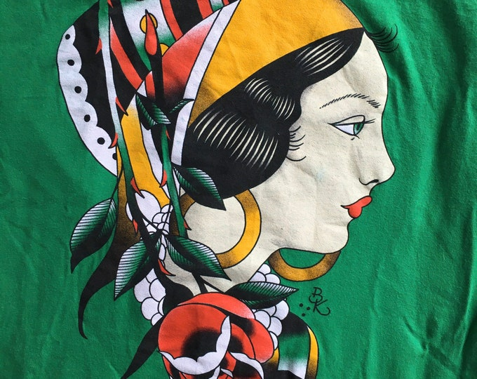 Tattoo Shirt of the Month Gypsy Girl t-shirt by Brian Kelly.