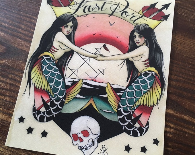 Last Port Tattoo Art Print