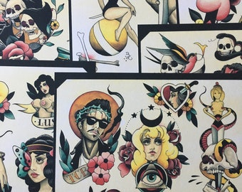 dd168a6db Tattoo Flash Set 25 by Brian Kelly. 6 sheets.
