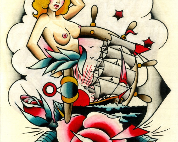 Nautical Tattoo Art Print No. 2