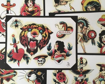 Tattoo Flash Set 11 by Brian Kelly.  6 Sheets